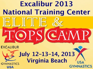 tops elite gymnastics training camp